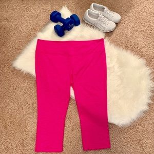 Athleta Pants - Athleta Hot Pink Compression Crops